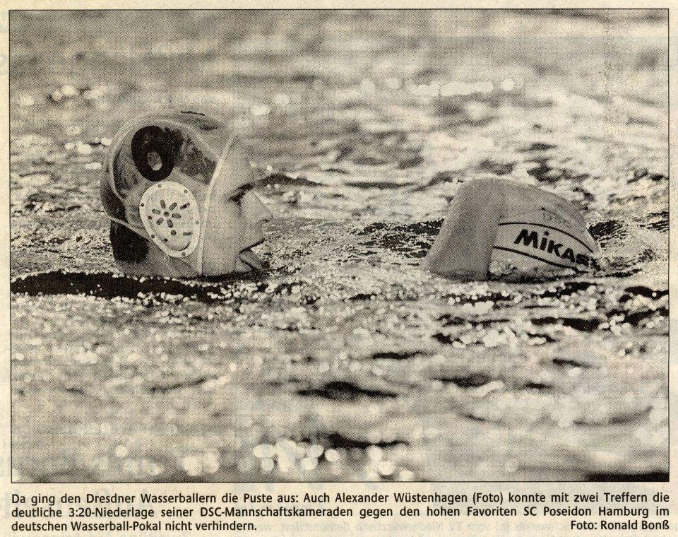 Da ging den Dresdner Wasserballern die Puste aus