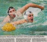 Dresdner Wasserballer kommen nicht aus dem Zweitligakeller
