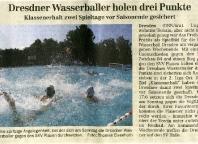 Dresdner Wasserballer holen drei Punkte