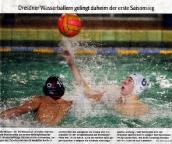 Dresdner Wasserballern gelingt daheim der erste Saisonsieg