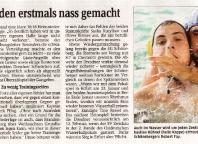 Dresdner werden erstmals nass gemacht