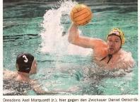 Dresdens Axel Marquardt gegen Zwickauer Daniel Oelschläger