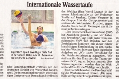 Internationale Wassertaufe