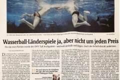 Wasserball-Länderspiel ja, aber nicht um jeden Preis