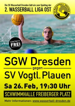SGW Dresden empfängt Plauen zum Verfolgerduell