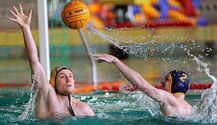 Foto vom Wasserball-Spiel SGW Dresden gegen SVV Plauen