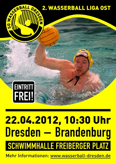 Wasserball-Plakat: Dresden gegen Brandenburg