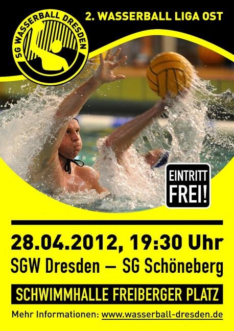 Wasserball Plakat: Dresden gegen SG Schöneberg