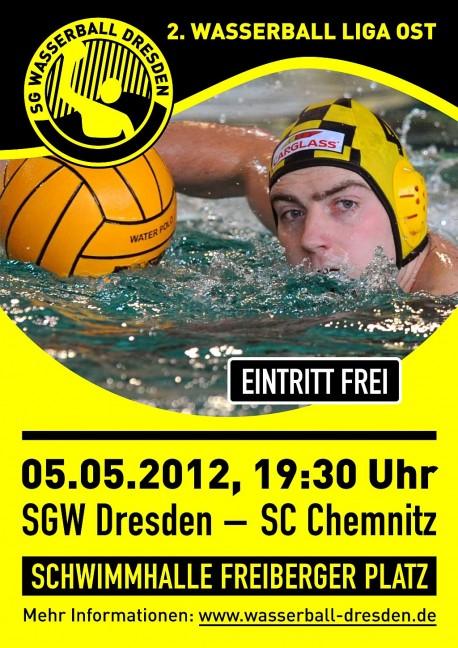 Wasserball-Plakat 2012 - Dresden gegen Chemnitz