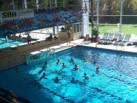 Wasserball Team Huddle
