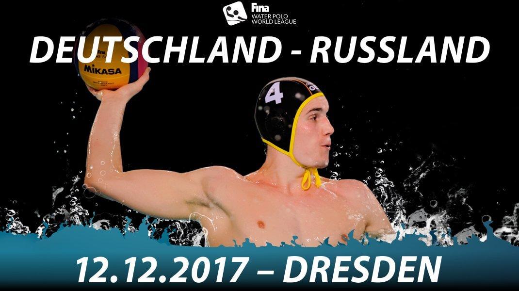 Wasserball Länderspiel in Dresden: Deutschland gegen Russland