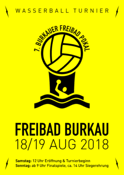 Plakat Wasserball Turnier Burkau 2017