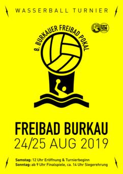 Plakat Wasserball Turnier Burkau 2019