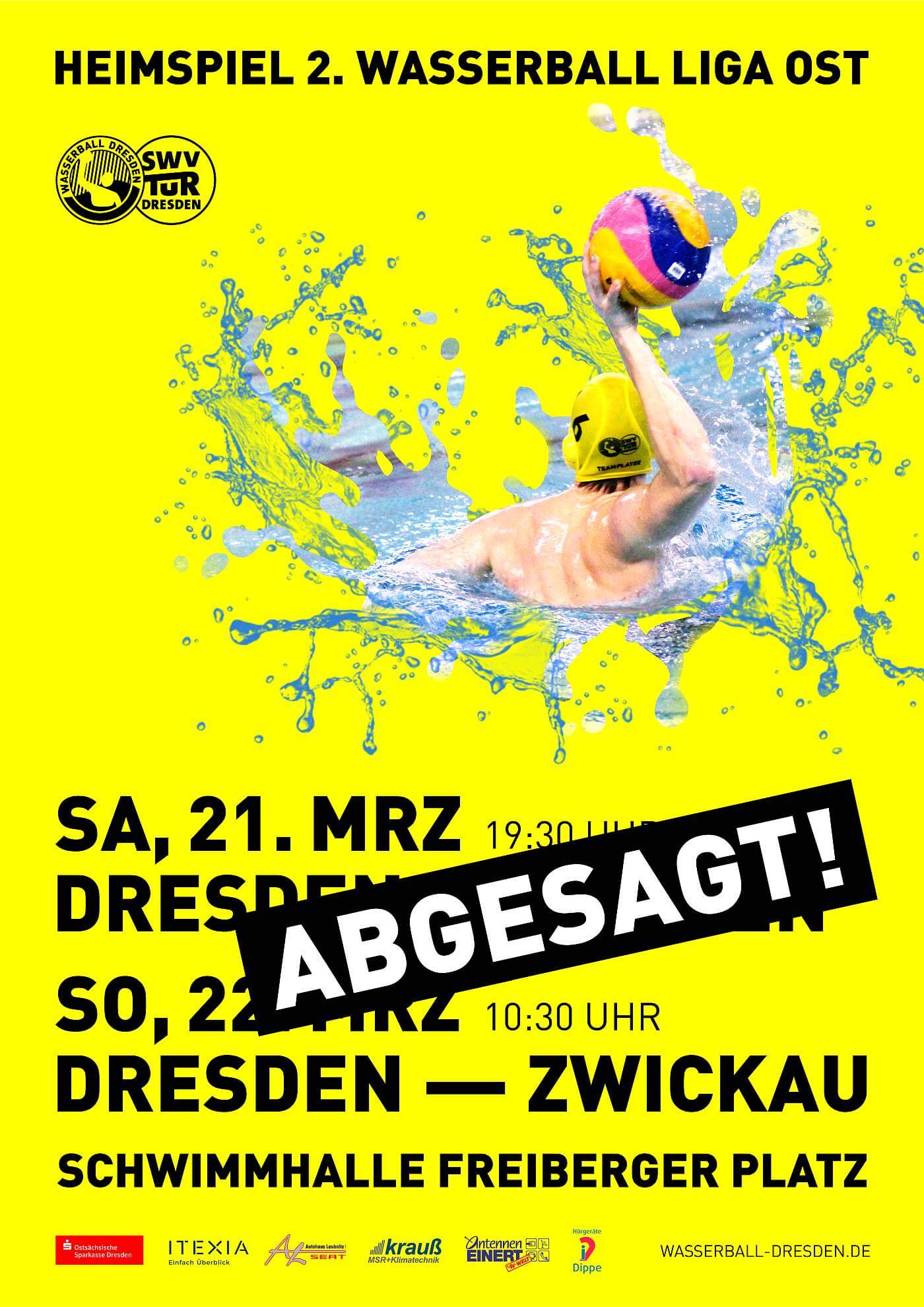 Wasserball-Plakat