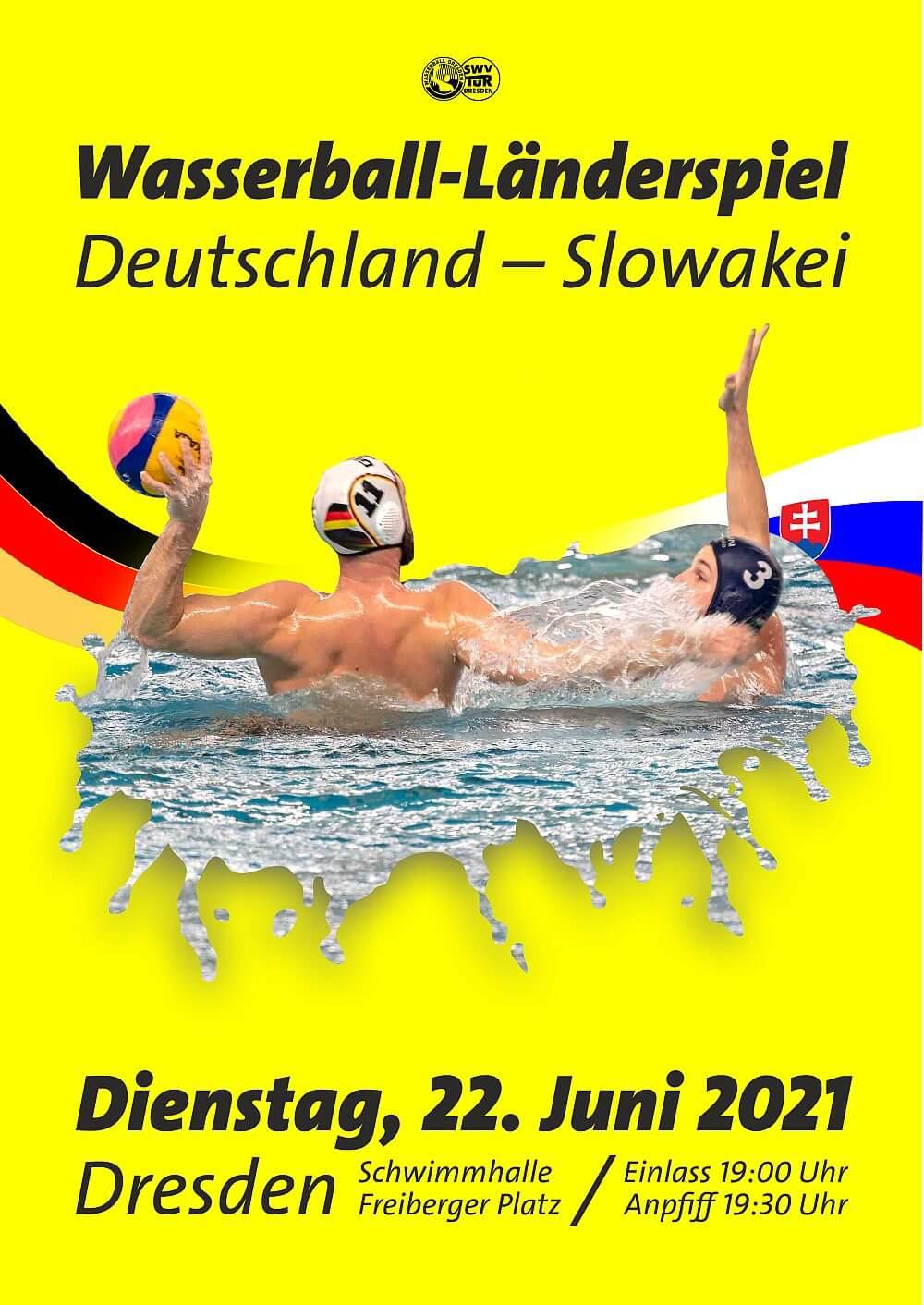 Wasserball-Länderspiel: Deutschland - Slowakei
